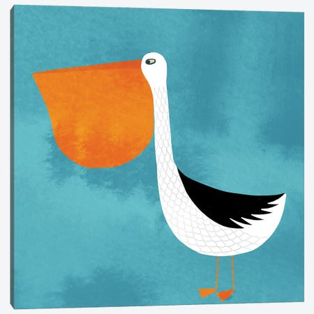 Pelican Canvas Print #NSQ55} by Nic Squirrell Canvas Wall Art