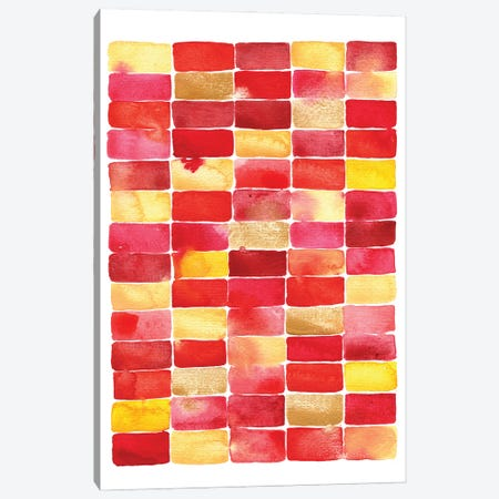 Red Yellow & Gold Geometric Canvas Print #NSQ57} by Nic Squirrell Canvas Wall Art