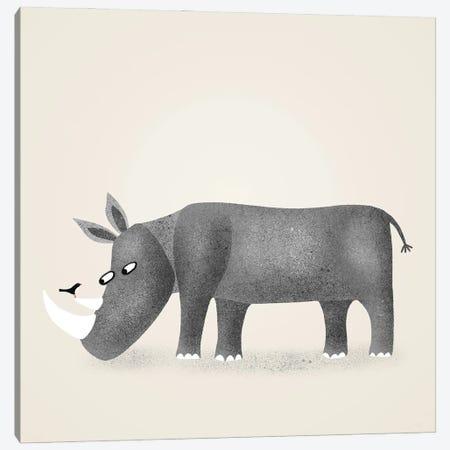 Rhino Canvas Print #NSQ58} by Nic Squirrell Canvas Print