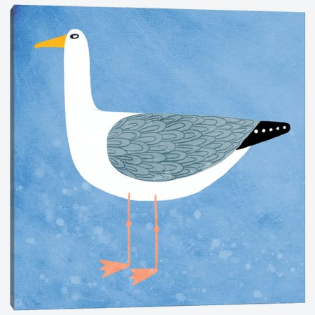 Seagull Canvas Print #NSQ62} by Nic Squirrell Canvas Art