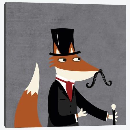 Sir Fox Canvas Print #NSQ65} by Nic Squirrell Art Print