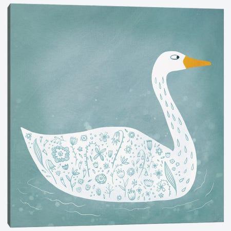 Swan Canvas Print #NSQ67} by Nic Squirrell Canvas Art Print