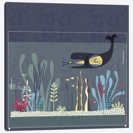 The Fishtank Canvas Print #NSQ70} by Nic Squirrell Art Print