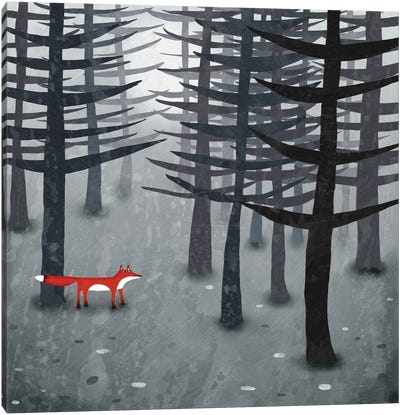 The Fox And The Forest Canvas Art Print