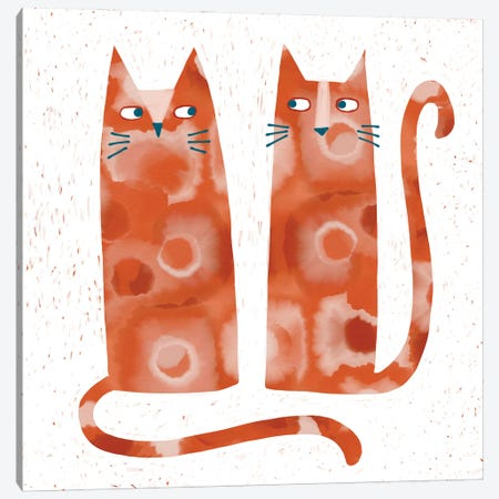 Two Suspicious Cats Canvas Print #NSQ74} by Nic Squirrell Canvas Artwork