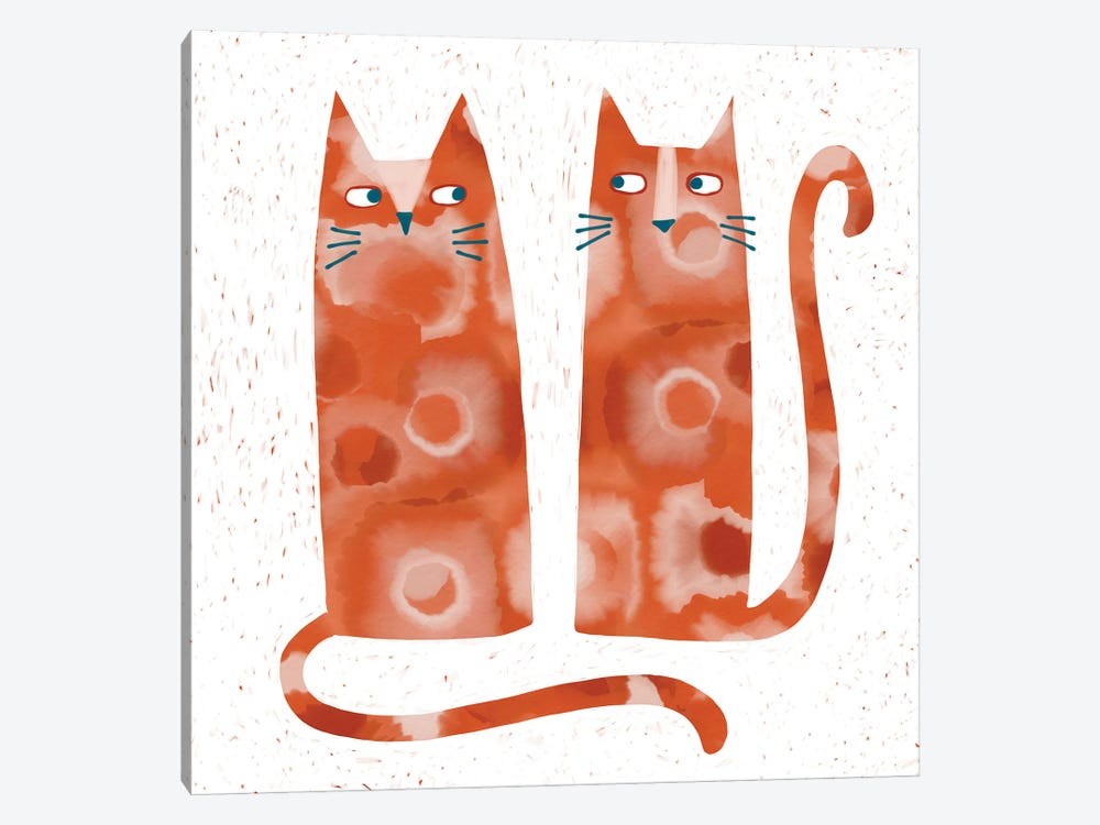 Two Suspicious Cats by Nic Squirrell 1-piece Canvas Artwork