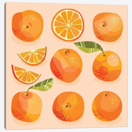 Oranges Canvas Print #NSQ83} by Nic Squirrell Canvas Art