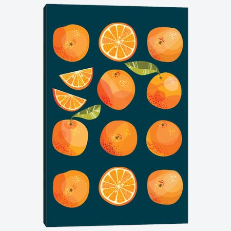 Oranges In The Dark Canvas Print #NSQ84} by Nic Squirrell Canvas Print