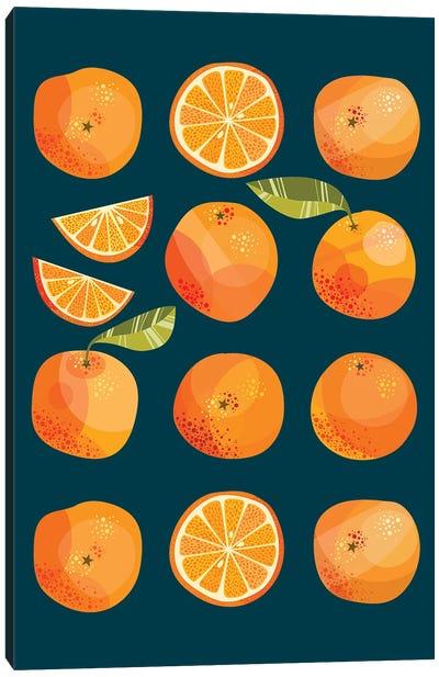 Oranges In The Dark Canvas Art Print
