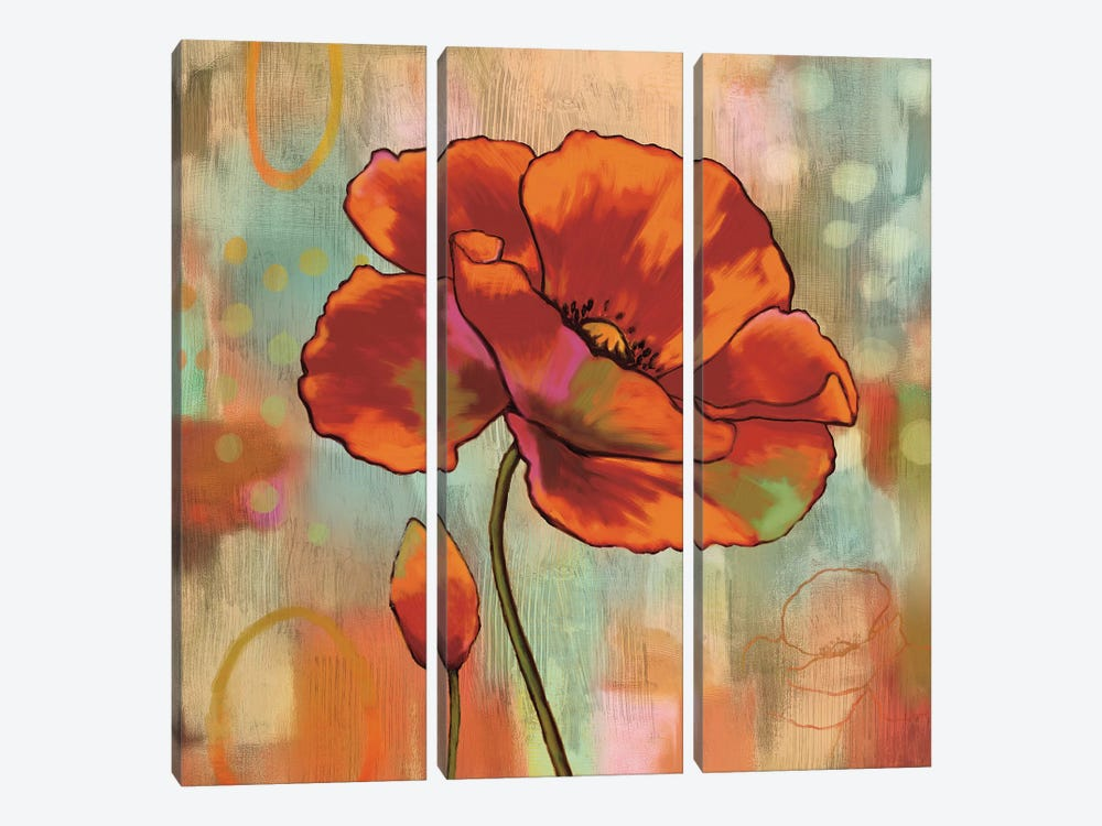 Fanciful II by Nicole Sutton 3-piece Canvas Wall Art