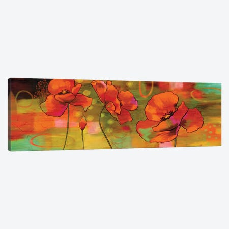 Magical Poppies Canvas Print #NSU3} by Nicole Sutton Art Print