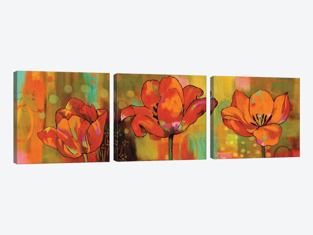 Magical Tulips by Nicole Sutton 3-piece Canvas Art