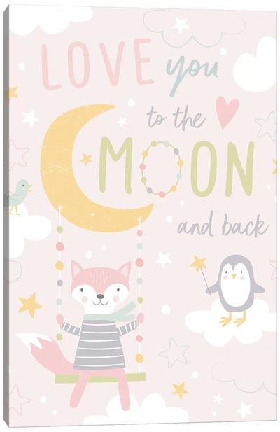 To The Moon II Canvas Art Print
