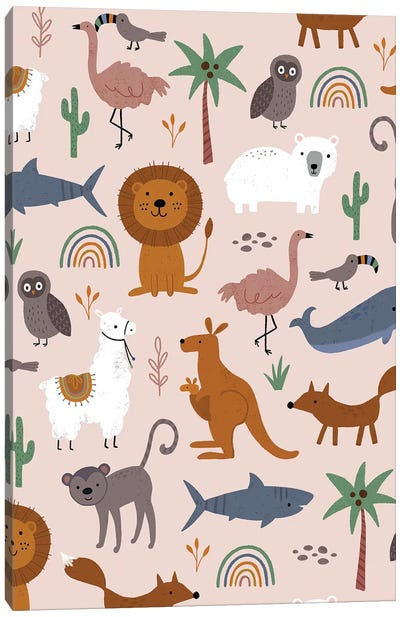 Baby Animal Menagerie II Canvas Art Print