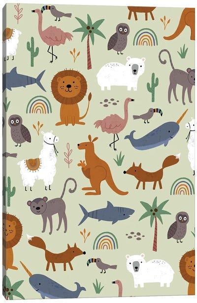 Baby Animal Menagerie III Canvas Art Print