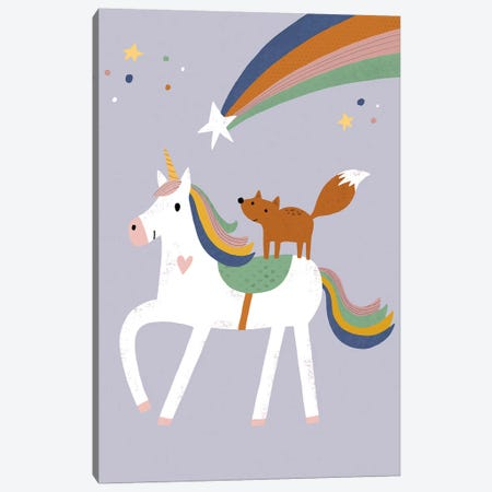 Baby Animal Menagerie IV 3-Piece Canvas #NSV16} by Nina Seven Canvas Print