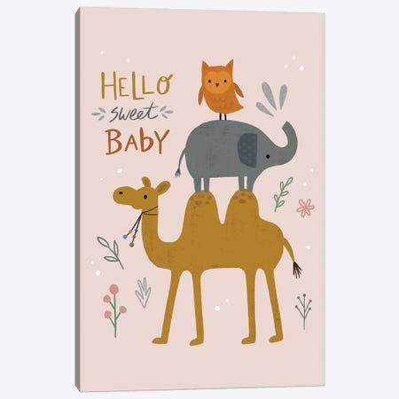 Baby Animal Menagerie V Canvas Print #NSV17} by Nina Seven Art Print
