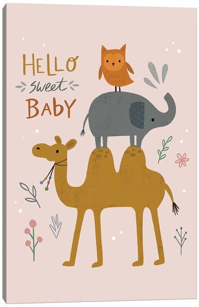 Baby Animal Menagerie V Canvas Art Print