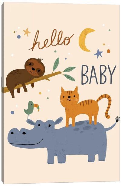 Baby Animal Menagerie VI Canvas Art Print