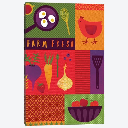 Market Fresh I Canvas Print #NSV1} by Nina Seven Canvas Wall Art