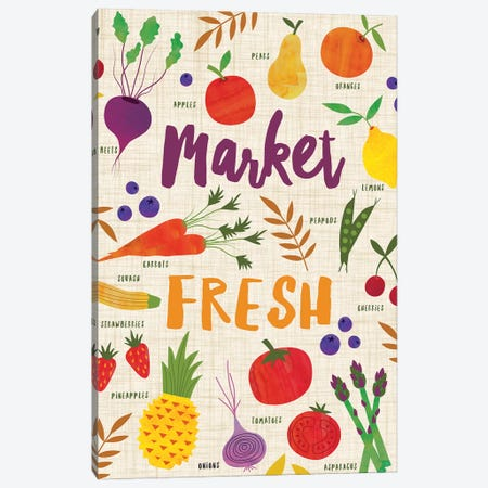 Market Fresh II 3-Piece Canvas #NSV2} by Nina Seven Canvas Art