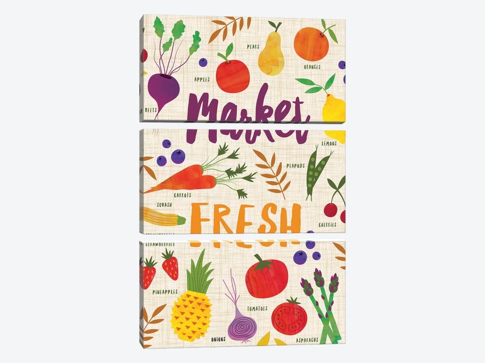 Market Fresh II by Nina Seven 3-piece Canvas Print