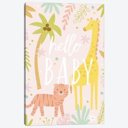 Baby Soft Safari I Canvas Print #NSV7} by Nina Seven Art Print