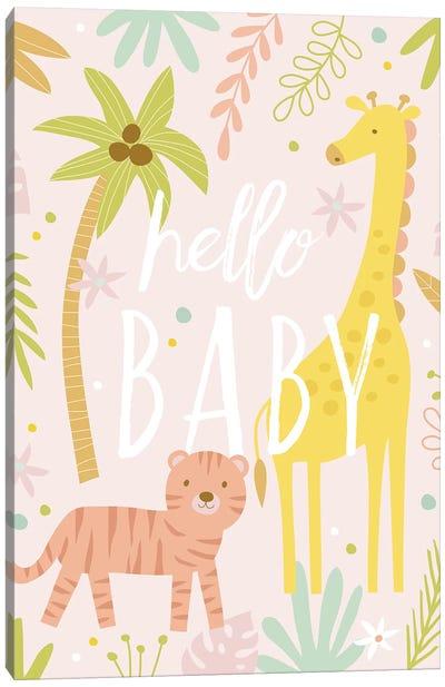 Baby Soft Safari I Canvas Art Print