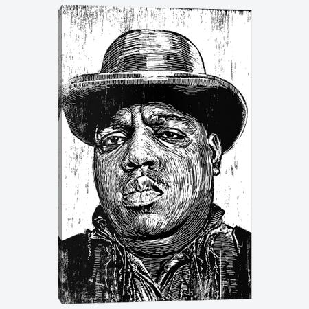 Biggie Smalls Canvas Print #NSY11} by Neil Shigley Canvas Print