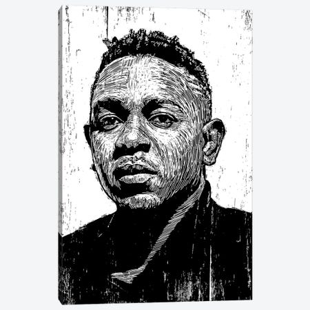 Kendrick Lamar Canvas Print #NSY23} by Neil Shigley Canvas Art