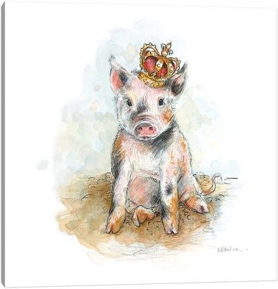 King Piggy Canvas Art Print