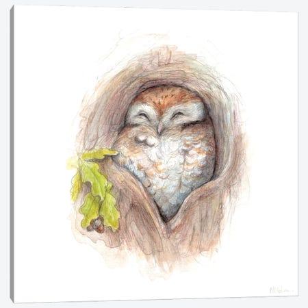 Cosy Owl Canvas Print #NTC25} by Natacha Chohra Canvas Artwork