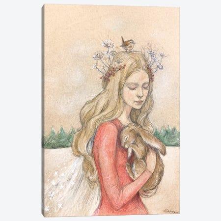 Yule Queen Canvas Print #NTC33} by Natacha Chohra Canvas Wall Art