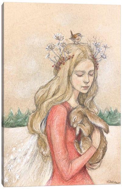 Yule Queen Canvas Art Print