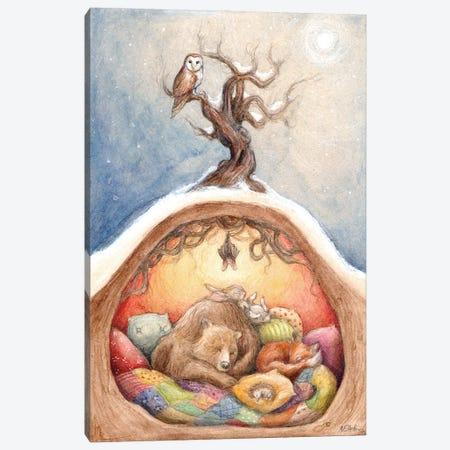 Winter Slumber Canvas Print #NTC3} by Natacha Chohra Art Print