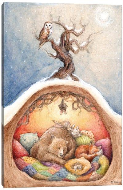 Winter Slumber Canvas Art Print