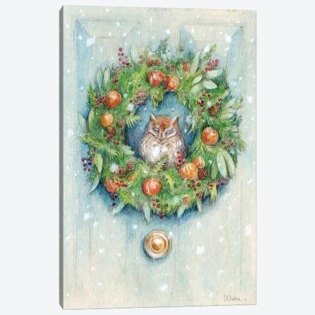 Winter Wreath Canvas Print #NTC4} by Natacha Chohra Canvas Artwork
