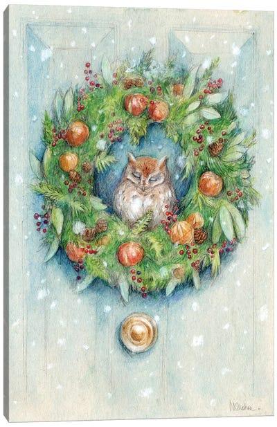 Winter Wreath Canvas Art Print