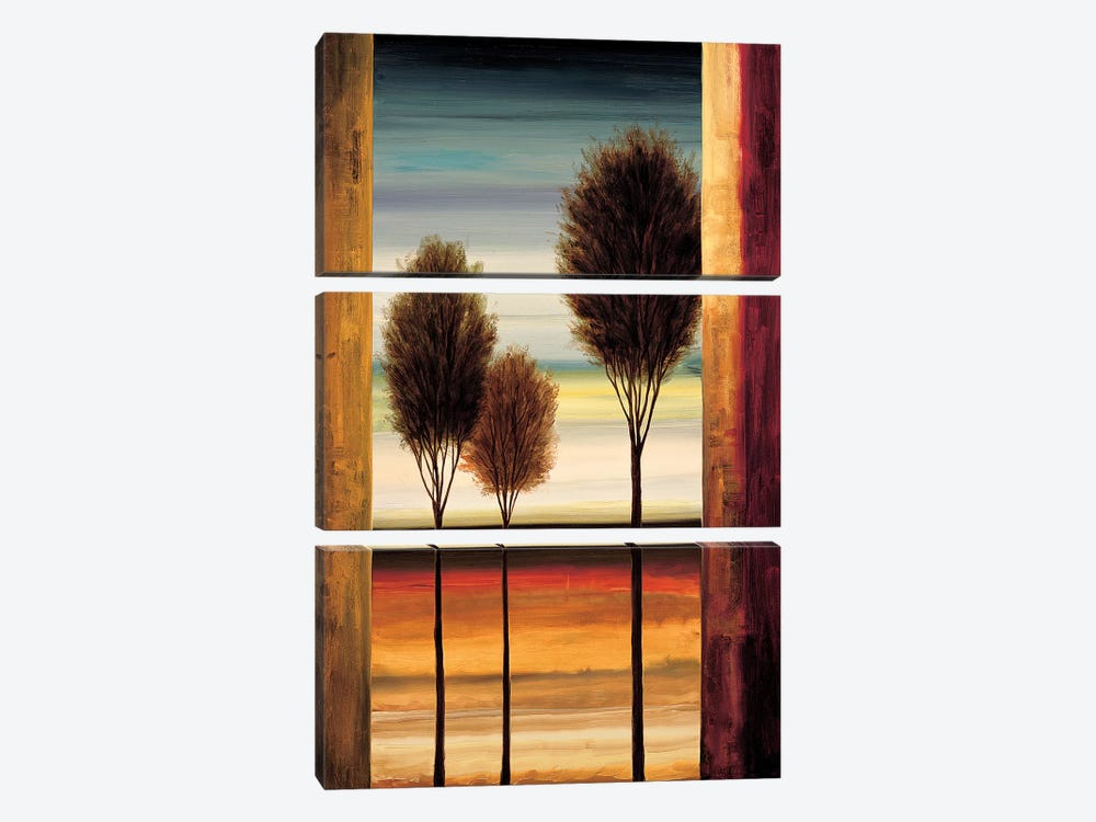 On The Horizon II 3-piece Canvas Print
