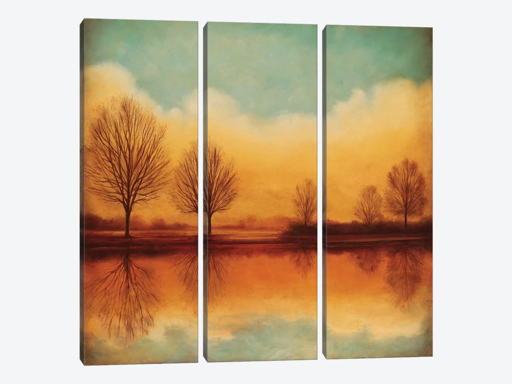 Reflections Of Autumn I by Neil Thomas 3-piece Canvas Art