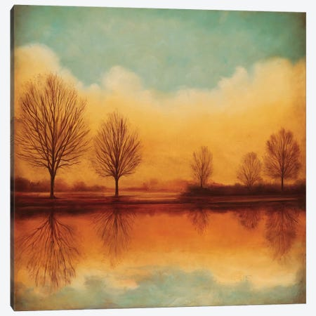 Reflections Of Autumn I Canvas Print #NTH13} by Neil Thomas Canvas Print