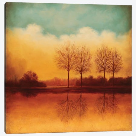 Reflections Of Autumn II Canvas Print #NTH14} by Neil Thomas Canvas Artwork