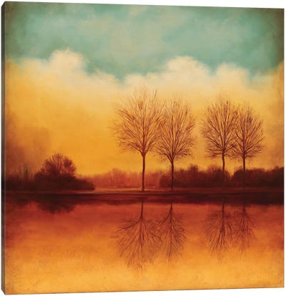 Reflections Of Autumn II Canvas Print #NTH14