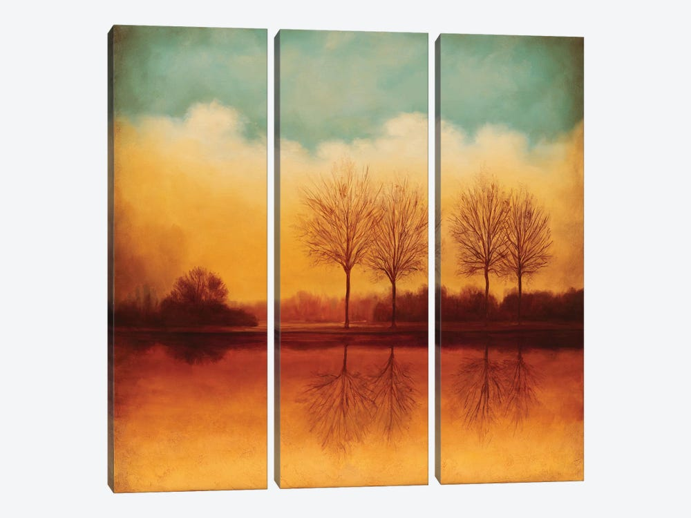 Reflections Of Autumn II by Neil Thomas 3-piece Art Print