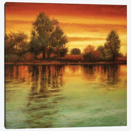 River Sunset I Canvas Print #NTH15} by Neil Thomas Canvas Art