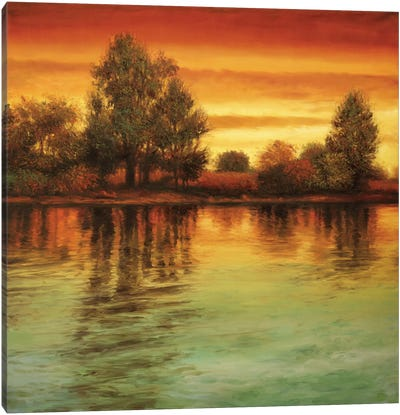 River Sunset I Canvas Art Print