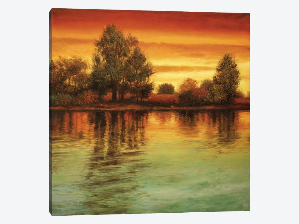 River Sunset I by Neil Thomas 1-piece Canvas Wall Art