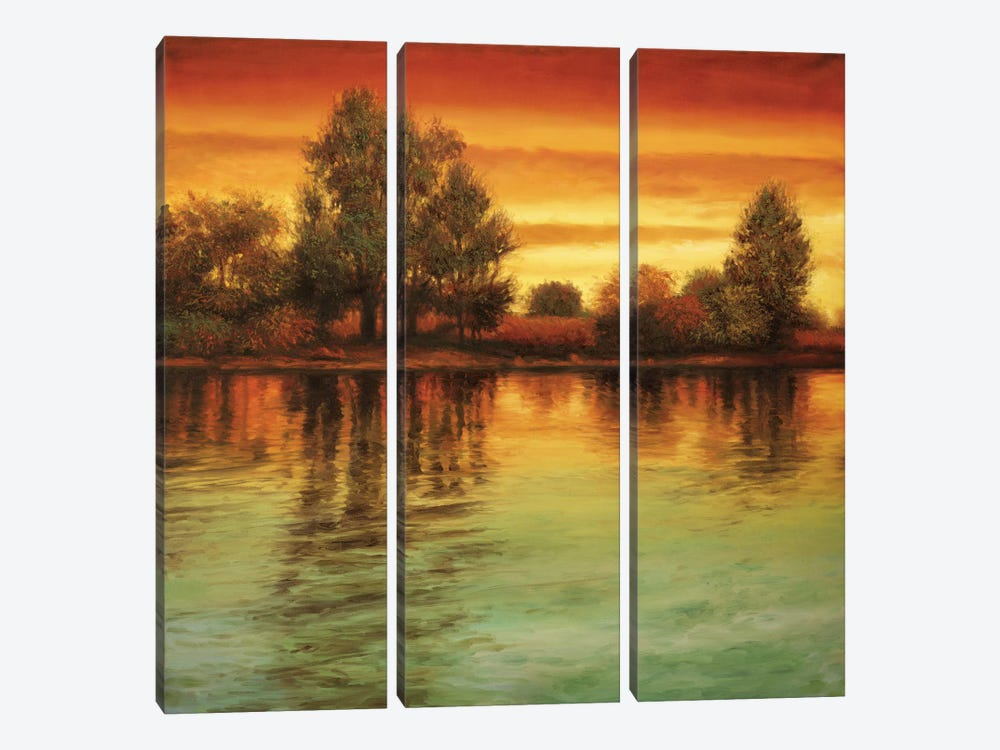 River Sunset I by Neil Thomas 3-piece Canvas Artwork