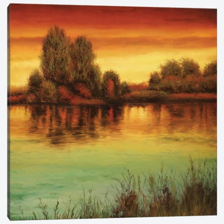 River Sunset II Canvas Print #NTH16} by Neil Thomas Canvas Wall Art