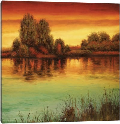 River Sunset II Canvas Art Print